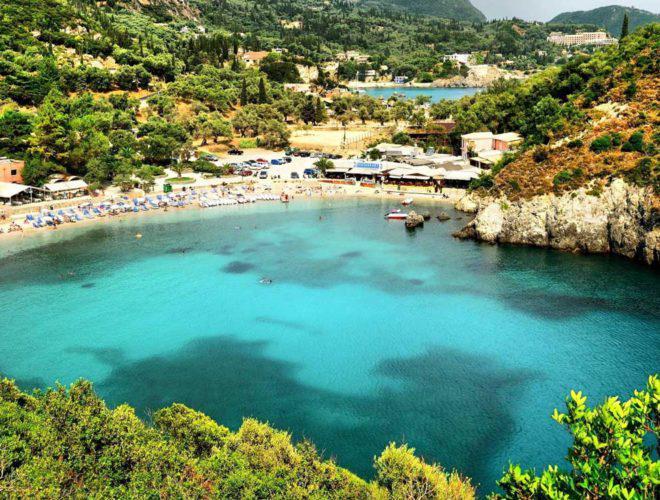 la grotta beach corfu porto timoni