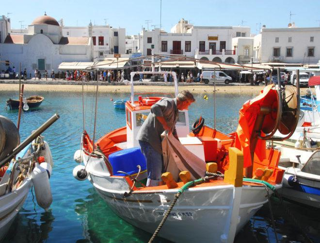 mykonos chora town greece
